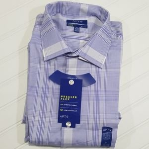 NWT Men's Apt 9 Slim Fit Premier Flex Collar Shirt